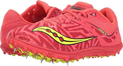 Saucony Women's Havok XC Spike Vizi Red/Citron Athletic Shoe