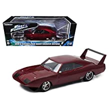 "1969 Dom's Dodge Charger Daytona Custom ""Fast & Furious 6"" Movie (2013 ) in Window Box 1/18 Model Car by Greenlight"