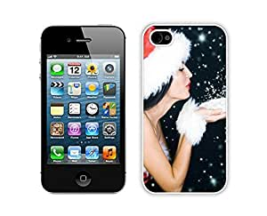 Diy Iphone 4S Protective Skin Case Merry Christmas White iPhone 4 4S Case 95