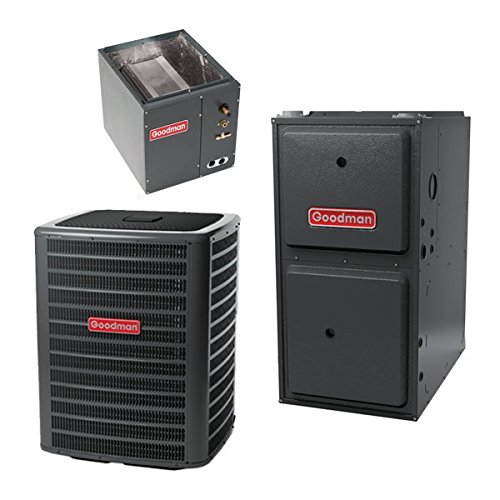 80,000 BTU 96% Gas Furnace and 2.5 ton 13 SEER Air Conditioner GMSS960803BN-GSX130301-CAPF3030B6