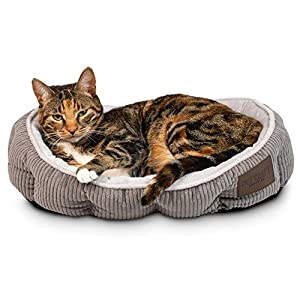 Simple Sleeper Self Warming Cute Calming Cat Bed With Ultra Soft Luxury Plush Including Refillable Catnip Pouch…