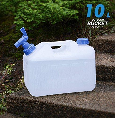 90 Points 10 litros/15 litros/18 litros/23 litros Recipiente para Agua sin BPA Aprobado por la FDA PE plástico Doble asa diseño Jarra para Picnic Camping al ...