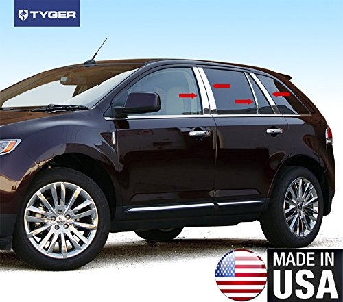 Made in USA! Fit 2007-2014 Lincoln MKX/Ford Edge 8PC Stainless Steel Chrome Pillar Post - Edge Pillar