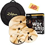 Zildjian KC0801W Worship Pack Cymbal Set Bundle with Gig Bag, Polishing Cloth
