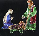 Holographic Outdoor Yard Nativity Set