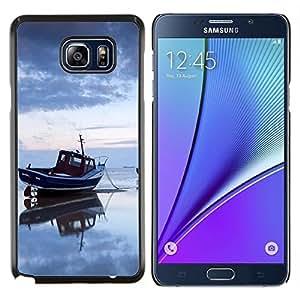LECELL--Funda protectora / Cubierta / Piel For Samsung Galaxy Note 5 5th N9200 -- Puesta de sol de coco Beautiful Nature 122 --