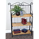 4D Concepts Metal and Wicker Bookcase MPN: 143014
