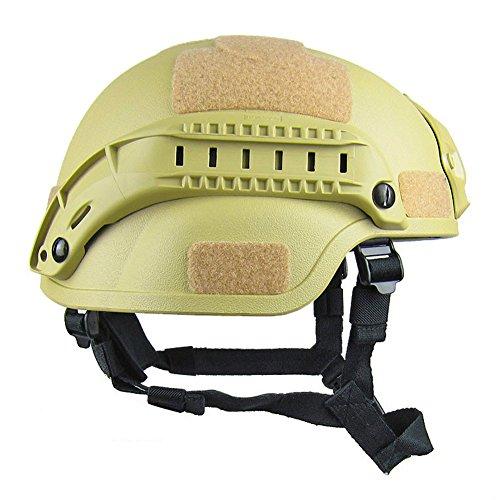 Gezichta Casque tactique de protection style MICH 2001 avec support NVG et rails latéraux pour paintball, airsoft ou CS 4