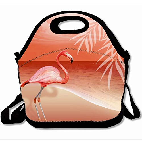 - Ahawoso Reusable Insulated Lunch Tote Bag Flamingo Beach Wedding Coral 10X11 Zippered Neoprene School Picnic Gourmet Lunchbox