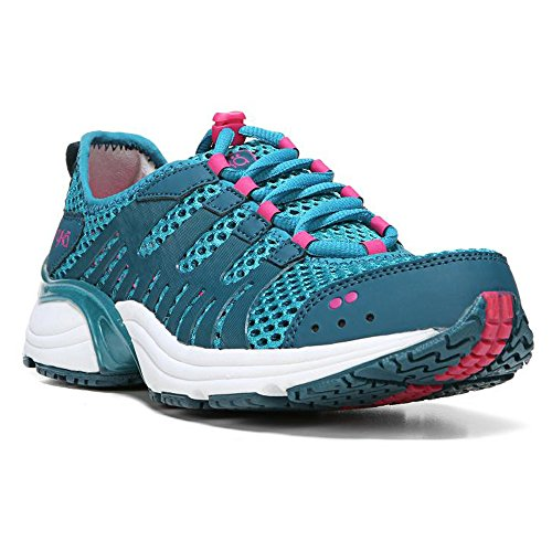 Ryka Women's Hydro Sport 2 Cross-Training Water Shoe, Enamel Blue/Blue Coral Pink, 5 M US Enamel Water