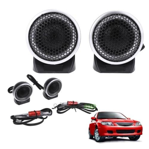 2pcs Black Mini Portable High Volume Car Interior Speaker Tweeter Loudspeakers