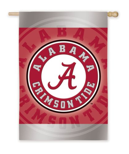 Home Décor University of Alabama Crimson Tide Silk Reflections Flag - Regular Size