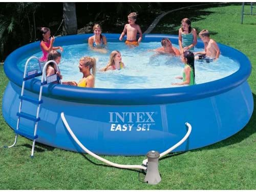 Intex piscina Easy set con depuradora, escalera, tapiz de suelo y ...