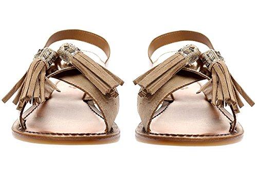 Inuovo 7330 - Damen Sandalette Pantolette - beige-gold