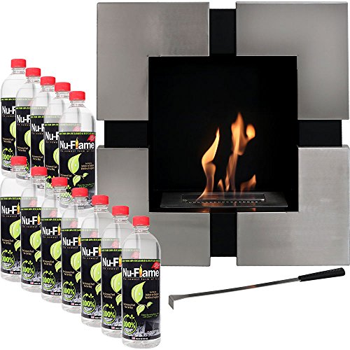 Sunnydaze 23-Inch Chaleur Ventless Wall Mounted Bio-Ethanol Fireplace with Fuel