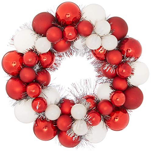 "Vickerman 12"" Candy Cane Ball Wreath"