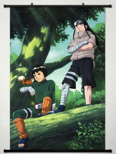 Home Decor Anime Naruto Cosplay Wall Scroll Poster Hyuuga Neji & Rock Lee 23.6 X 35.4 Inches- A426 by Naruto