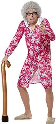 Amakando Andador Hinchable Bastón para inflar Cayado Anciano Fiesta temática Pensionistas Accesorios de Apoyo Complemento Disfraz Abuelo
