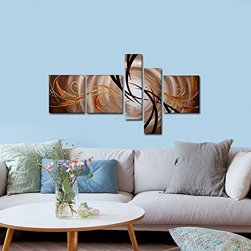 Wieco art the extension of the universe modern 5 panels for Home decor uae