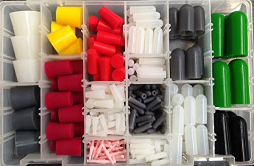 349 pc. High Temp Silicone Powder Coating Masking Plug & Cap Kit