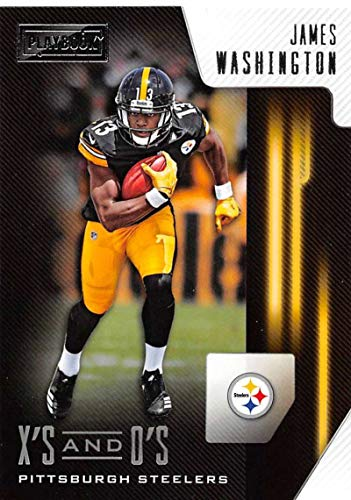 2018 Playbook Xs and Os Football #28 James Washington Pittsburgh Steelers Official NFL Rookie Insert Card Made by Panini