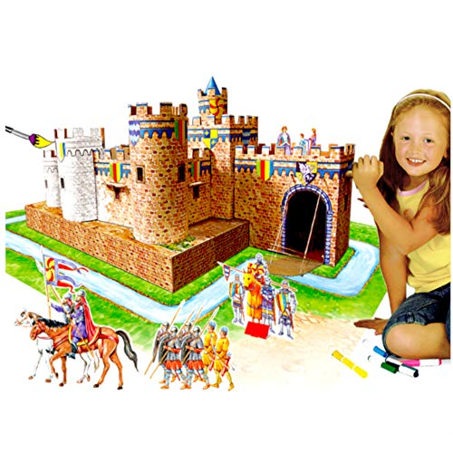 UC Global Trade Inc 3D Puzzle Coloring Castle for Kids and Adults - Educational DIY Build and Color Cardboard Kit for $<!--$23.49-->
