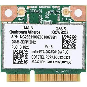 etc. Qualcomm Atheros AR9565 QCWB335 150M Mini PCI-E Tarjeta de Red inal/ámbrica Bluetooth Universal ASHATA Tarjeta de Red Tarjeta de Red Bluetooth 2.4G para HP//DELL//Acer