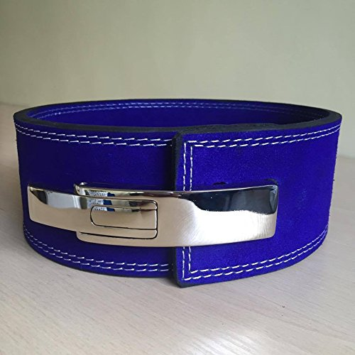 Blue Training Belt - Weight Lifting Lever Belt 10mm - (Blue) Gym Wear Training Cross Fit Power Lifting Straps Inzer (Small (Waist 26-32))