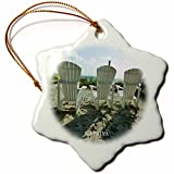orn_62219_1 Florene Beach - What A Super View Overlooking Captiva Beach - Ornaments - 3 inch Snowflake Porcelain Ornament