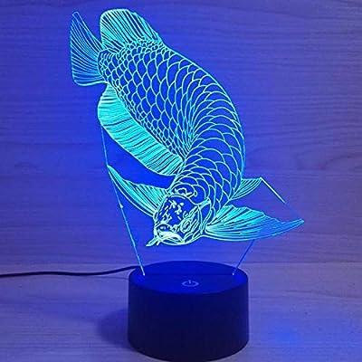 BFMBCHDJ Interruptor táctil remoto Luz 3d Novedad Luz Led 3d Luz ...