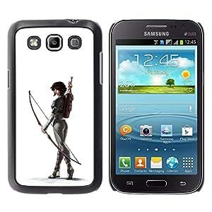 GOODTHINGS Funda Imagen Diseño Carcasa Tapa Trasera Negro Cover Skin Case para Samsung Galaxy Win I8550 I8552 Grand Quattro - blanco arquero culo mujer sexy flecha