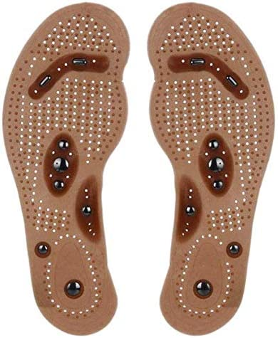Aubess Plantillas magnéticas para zapatos – Desodorante transpirable antisudor cómodo masaje suela ortopédica para hombres y mujeres