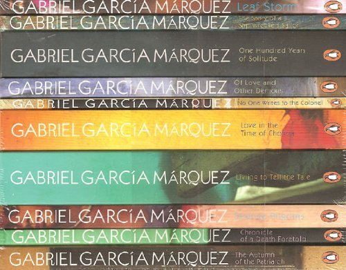 Gabriel Garcia Marquez- 10 Book set RRP £47.88: Leaf Storm, Story of a Shipwrecked Sailor, One Hundred Years of Solitude, Of Love and Other Demons, Love in the Time of Cholera, Living to Tell the Tale, Strange Pilgrims, Chronicle of a Death Foretold (Gabriel Garcia Marquez Of Love And Other Demons)