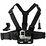 CamKix Chest Mount Harness for Gopro Hero 4, Session, Black, Silver, Hero+ LCD, 3+, 3, 2, 1 - Fully Adjustable Chest Strap - Also Includes J-Hook / Thumbscrew / Storage Bag