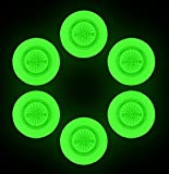 9'' Light Up Plastic Flying Sports Discs, Glow in the Dark for Night Games (Set of 6)