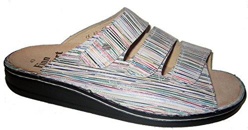 Finn Comfort - Zuecos de Piel para mujer Multicolor multicolor Multicolor - Multi/Paglia