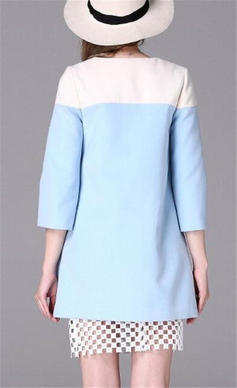 Women's 3/4 Sleeve Slim Single Breasted Winter Wool Blended Pocket Coat