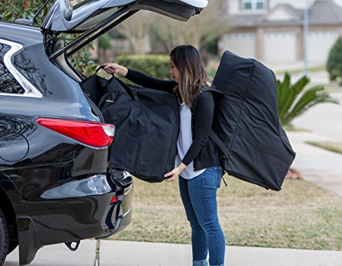 ZOHZO Car Seat Travel Bag — Adjustable, Padded Backpack for Car Seats — Car Seat Travel Tote — Save Money, Make Traveling Easier — Compatible with Most Name Brand Car Seats (Purple with Black Trim) by Zohzo (Image #7)
