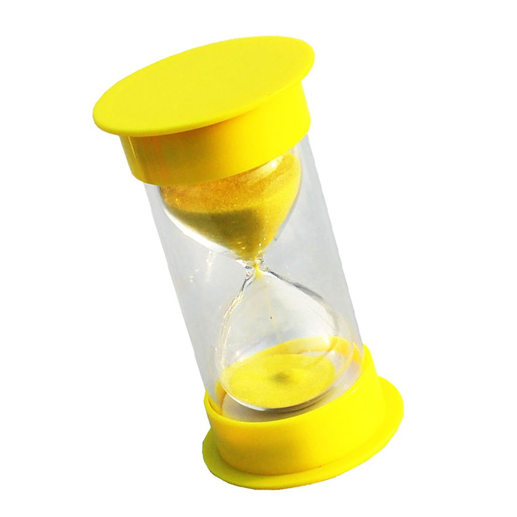 MagiDeal 5 Minutes Hourglass Timer Yellow Lid & Sand