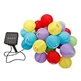 Moon_Daughter Various 30 LED Sphere Garden Lantern Lights String Path Fairy Solar Power Lantern Home Decor Celebrate