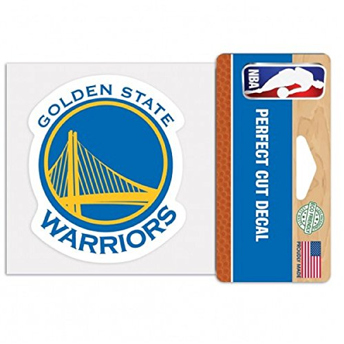"""WinCraft NBA Golden State Warriors Perfect Cut Color Decal, 4"""" x 4"""""""