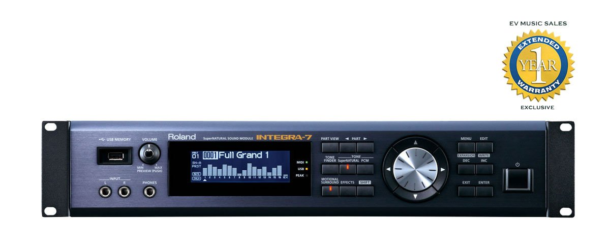 Roland INTEGRA-7 SuperNATURAL Sound Module with 1 Year Free Extended Warranty by Roland