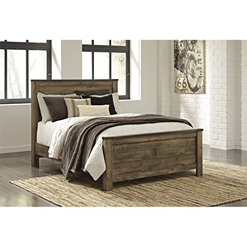 Ashley Trinell Queen Panel Bed in Brown - Ashley Furniture Bed