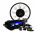 48v 1500w Electric Bike Conversion Kit with 48V 13Ah Samsung Cell Triangle Lithium Battery.