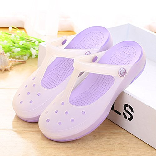 home thick and hole hole Couple 7 Summer women's home Summer MEIDUO optional slip Slippers Men's shoes B colors bath size indoor non Comfortable plastic optional color qTI7vnw