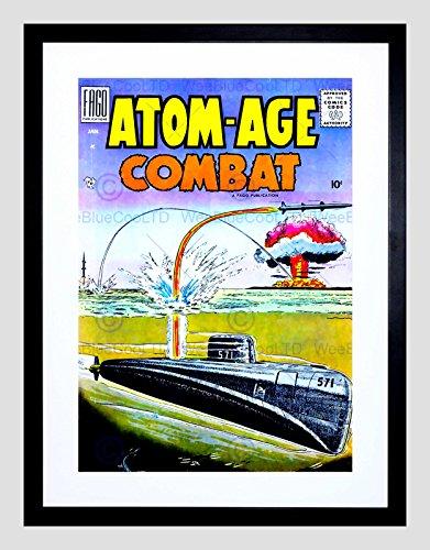 Missile Sub - Comic Book Cover Atom Age Combat Nuclear Bomb Missile SUB Art Print B12X10653