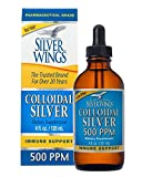 Natural Path Silver Wings Dietary Mineral Supplement, Colloidal Silver, 500 PPM, 4 fl. oz. / 120 ml