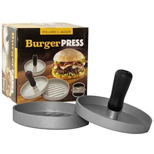 Holland & Jagger Best Burger Press-Hamburger Patty Maker for Stuffed Burgers-Quality BBQ Grilling Accessories (Single)