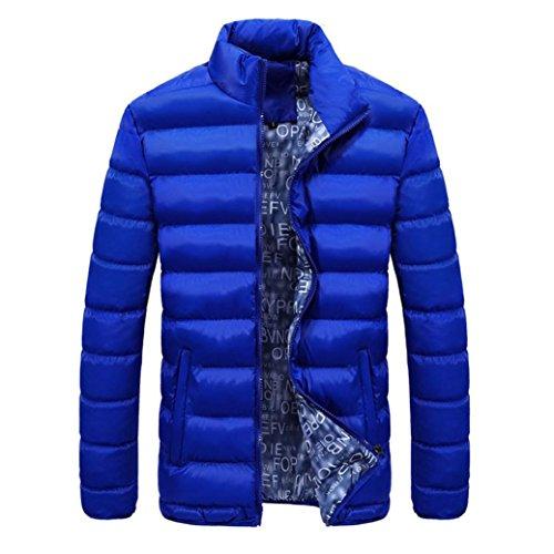 Classic Pinstripe Coat (Coohole Men's Fashion Autumn Winter Warm Down Coat Slim Thick Casual Outerwear Parka Coat Jacket (Sky Blue, L))