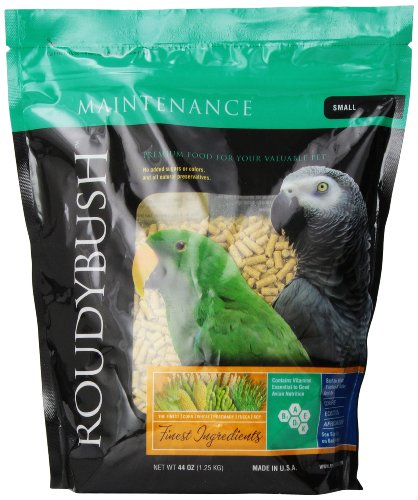 Cockatiel Pellets (RoudyBush Daily Maintenance Bird Food, Small, 44-Ounce)